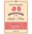 save date wedding invitation card vector image