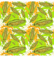 seamless pattern corn vegetables ornament vector image vector image