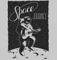 space journey poster vector image vector image