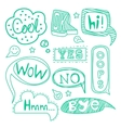 Speech Bubble Collection Black and White vector image vector image