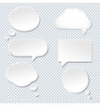 speech bubble with old paper vector image vector image