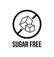 sugar free foods icon black and white designs can vector image