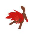 superhero dog character barking and attacking vector image