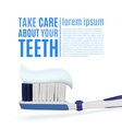Take care about your teeth Dental background vector image
