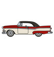 the old red and white american car vector image