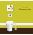 Toilet 3d Yellowe background vector image