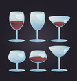 wine stemwares set vector image