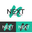 next logo letter n logo logo template vector image