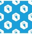 Ice cream hexagon pattern vector image