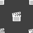 Cinema Clapper icon sign Seamless pattern on a vector image