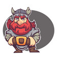 strong hero image of fantasy dwarf or viking for vector image