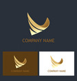 abstract 3d business gold logo vector image vector image