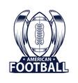 american football logo sport style vector image vector image
