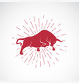 angry bull on white background animal bull vector image vector image