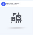 artist icon filled flat sign solid vector image vector image