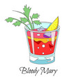 bar cocktail bloody mary drink with celery stick vector image vector image