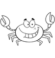 Beach crab cartoon vector image vector image