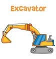 Big excavator cartoon vector image vector image