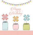 bottle and flower vector image vector image