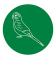budgerigar parrot icon in thin line style vector image vector image