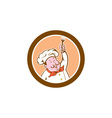 chef cook holding fork cartoon vector image vector image