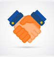 colored hand shake trendy symbol vector image