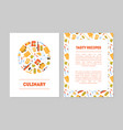 culinary tasty recipes banner templates set vector image vector image