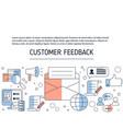 customer feedback concept customer feedback vector image