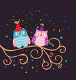 cute owls cute owls vector image vector image