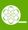 film icon green vector image vector image