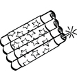 Firecracker vector image vector image