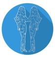 Flat icon of zodiac sign Gemini vector image vector image