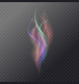 fluid magic smoke on a dark background vector image vector image
