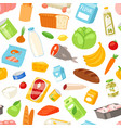 food meal assortment vegetables or fruits vector image vector image