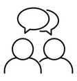 friendship conversation icon outline style vector image vector image