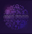 gmo food colored circular modern linear vector image