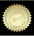 Gold star label Connecticut vector image vector image