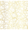 Golden Abstract Circles Bubbles Seamless vector image vector image