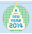 happy new year 2014 card43 vector image vector image