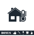 House temperature icon flat vector image vector image