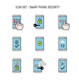 icon collection pack with smart phone mobile vector image