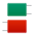 image a realistic blank green and red highway vector image vector image