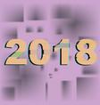 inscription 2018 celebration logo glow vector image