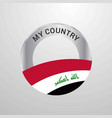 iraq my country flag badge vector image