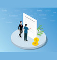 isometric code of conduct concept with business vector image vector image