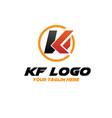 k f logo designs vector image