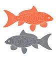 Koi Fish Carp Koi vector image