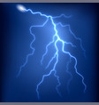 lightning strike in night storm sky vector image