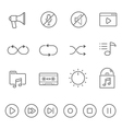 Lines icon set - audio controller vector image