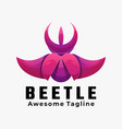 logo beetle gradient colorful style vector image vector image